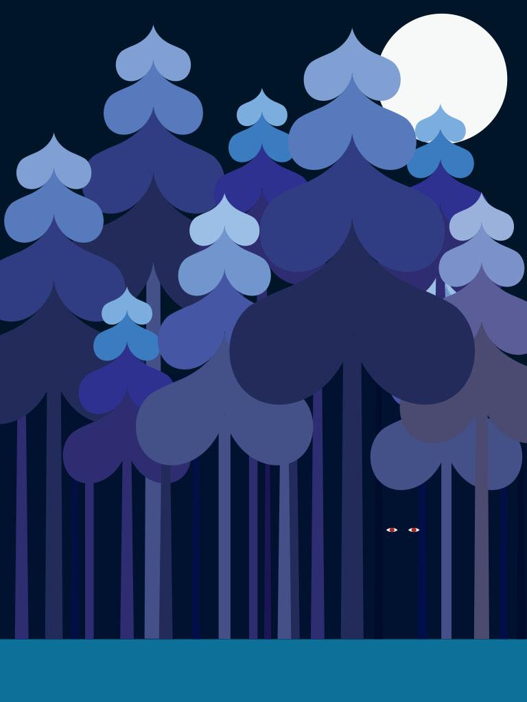 Background image dark forest