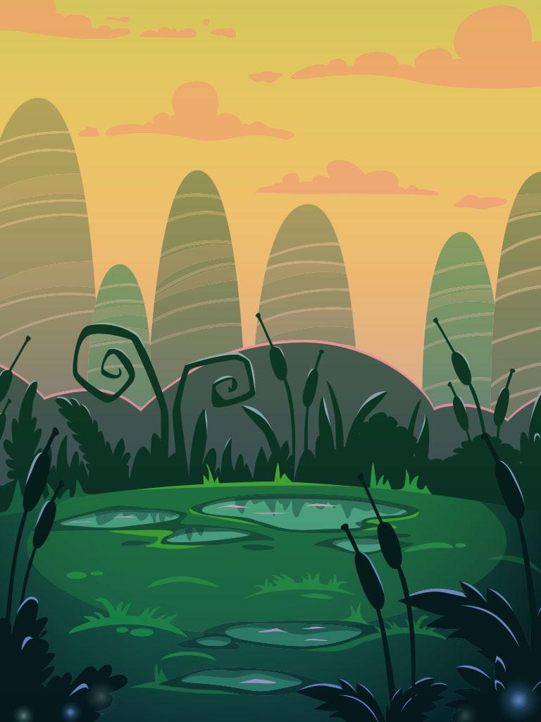 Background image swamp